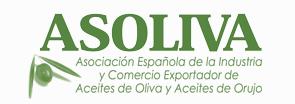 Asoliva in green with an olive in the lower left corner and the words Asociación Española de la Industria y Comercio Exportador de Acites de Oliva y Acites de Orujo below