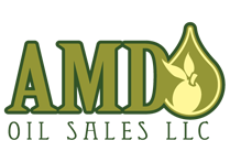 AMD logo in green and an olive in beige