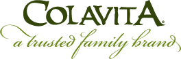 Colavita in green text with a trusted family brand written below in a lighter green and cursive